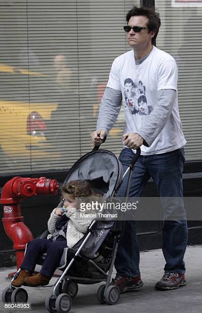 Actor Jason Bateman and his daughter Francesca Nora Bateman are seen on the streets of Manhattan April 19 2009 in New York City