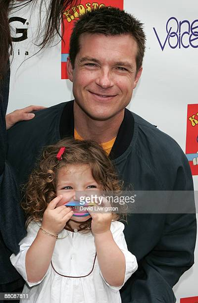 Actor Jason Bateman and his daughter Francesca Nora Bateman attend the 3rd annual Kidstock Music and Art Festival at Greystone Mansion on May 31 2009...