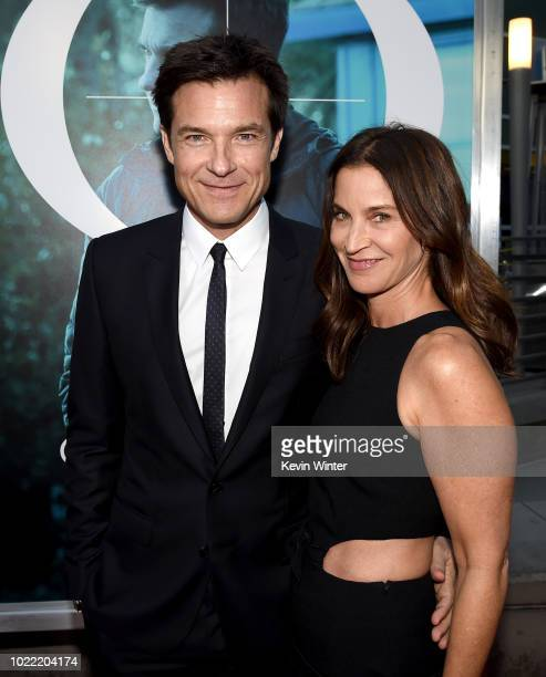 Actor Jason Bateman and his wife Amanda Anka arrive at the premiere of Netflix's Ozark Season 2 at the Arclight Theatre on August 23 2018 in Los...