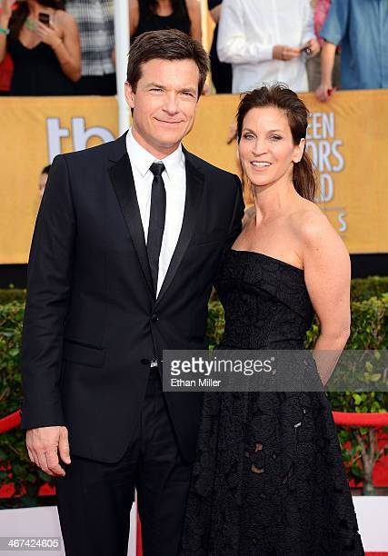 Actor Jason Bateman and his wife Amanda Anka attend the 20th Annual Screen Actors Guild Awards at The Shrine Auditorium on January 18 2014 in Los...