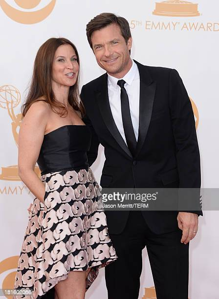 Actor Jason Bateman and wife Amanda Anka arrive at the 65th Annual Primetime Emmy Awards held at Nokia Theatre LA Live on September 22 2013 in Los...