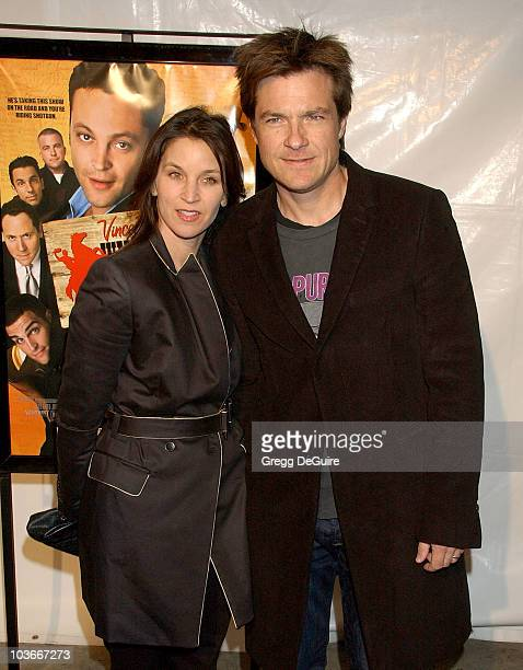Actor Jason Bateman and wife Amanda Anka arrive at Vince Vaughn's Wild West Comedy Show Los Angeles premiere at the Egyptian Theatre on January 28...
