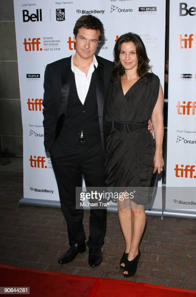 Actor Jason Bateman and wife Amanda Anka arrive to the Up In The Air premiere during 2009 Toronto International Film Festival held at Ryerson Theatre...