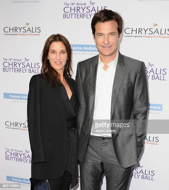 Actor Jason Bateman and wife Amanda Anka attend the 16th annual Chrysalis Butterfly Ball on June 3 2017 in Brentwood California