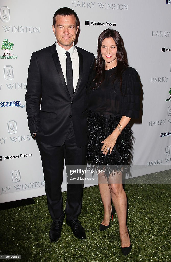 Actor Jason Bateman (L) and wife Amanda Anka attend the 1st Annual Baby2Baby Gala at The BookBindery on November 3, 2012 in Culver City, California.