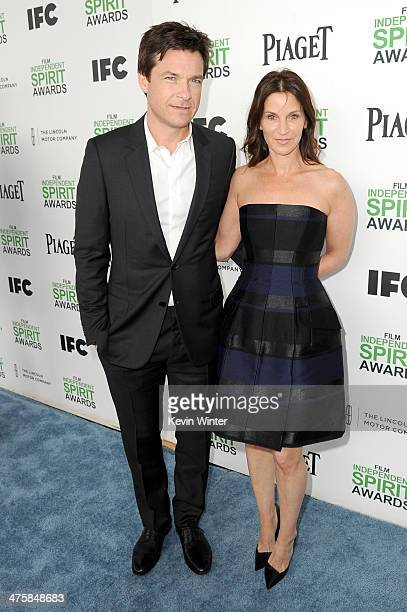 Actor Jason Bateman and wife Amanda Anka attend the 2014 Film Independent Spirit Awards at Santa Monica Beach on March 1 2014 in Santa Monica...