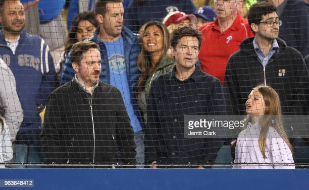 Actor Jason Bateman attends the Los Angeles Dodgers Game at Dodger Stadium on May 29 2018 in Los Angeles California