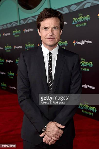 Actor Jason Bateman attends the Los Angeles premiere of Walt Disney Animation Studios' 'Zootopia' on February 17 2016 in Hollywood California