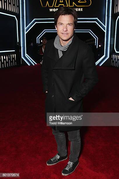 Actor Jason Bateman attends the Premiere of Walt Disney Pictures and Lucasfilm's Star Wars The Force Awakens on December 14 2015 in Hollywood...