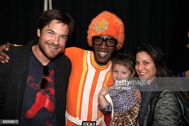 ACCESS*** Actor Jason Bateman daughter Francesca Nora Bateman and wife Amanda Anka pose with 'DJ Lance Rock' at the first ever Yo Gabba Gabba...