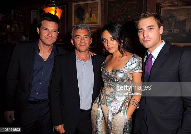 Actor Jason Bateman Miramax President Daniel Battsek actress Mila Kunis and actor Dustin Milligan attend the after party for the Los Angeles premiere...