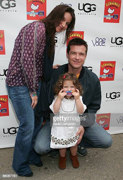 Actor Jason Bateman wife actress Amanda Anka and their daughter Francesca Nora Bateman attend the 3rd annual Kidstock Music and Art Festival at...