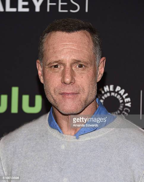 Actor Jason Beghe arrives at The Paley Center For Media's 33rd Annual PaleyFest Los Angeles Stars of Law and Order SVU Chicago Fire Chicago PD and...