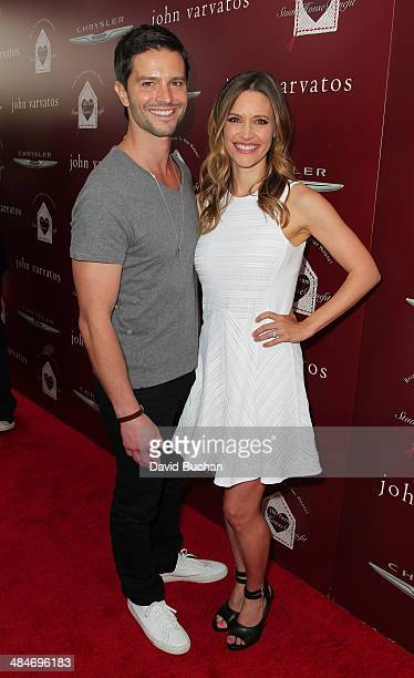 Actor Jason Behr and actress KaDee Strickland attends the 11th Annual John Varvatos Stuart House Benefit at John Varvatos on April 13 2014 in Los...