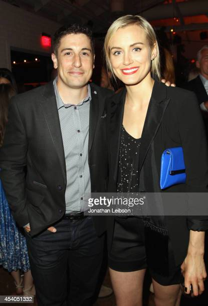 Actor Jason Biggs and actress Taylor Schilling attend Variety and Women in Film Emmy Nominee Celebration powered by Samsung Galaxy on August 23 2014...