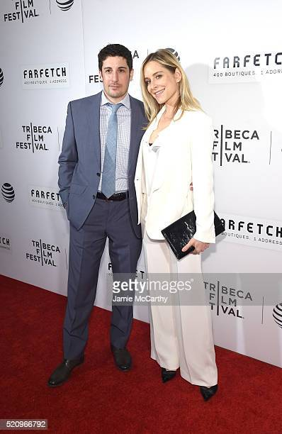 Actor Jason Biggs and Jenny Mollen at The First Monday In May World Premiere 2016 Tribeca Film Festival Opening Night at John Zuccotti Theater at...