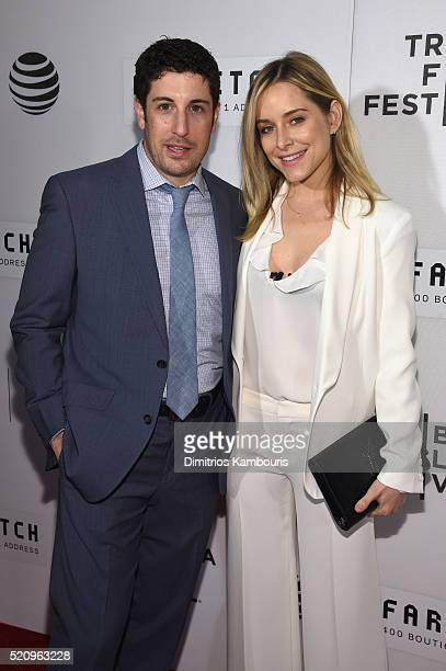 Actor Jason Biggs and Jenny Mollen attend the First Monday In May world premiere during the 2016 Tribeca Film Festival opening night at BMCC John...