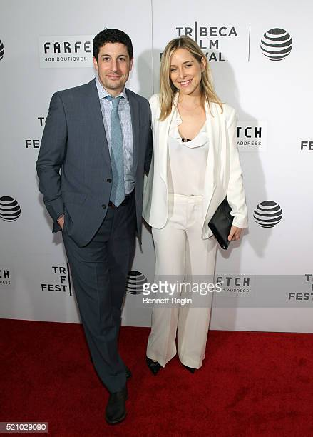 Actor Jason Biggs and Jenny Mollen attend The First Monday In May World Premiere 2016 Tribeca Film Festival Opening Night at John Zuccotti Theater at...