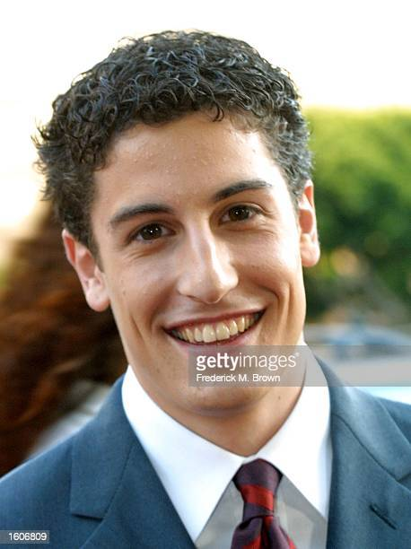 Actor Jason Biggs arrives at the premiere screening of the film 'American Pie 2' August 6 2001 in Los Angeles CA