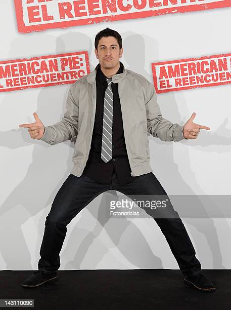 Actor Jason Biggs attends a photocall for 'American Pie: Reunion' at the Villamagna Hotel on April 19, 2012 in Madrid, Spain.