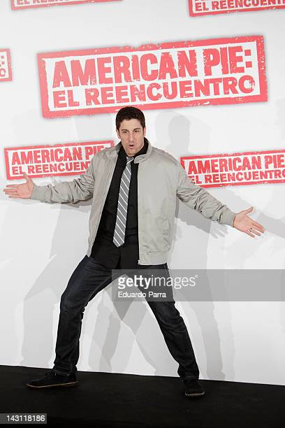 Actor Jason Biggs attends 'American Pie: Reunion' photocall at Villamagna Hotel on April 19, 2012 in Madrid, Spain.