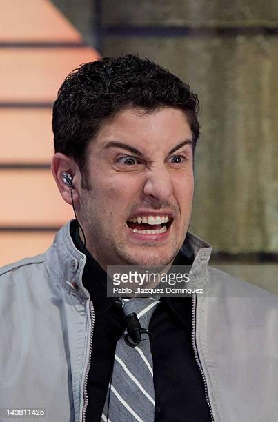 Actor Jason Biggs attends 'El Hormiguero' Tv Show at Vertice Studios on May 3 2012 in Madrid Spain