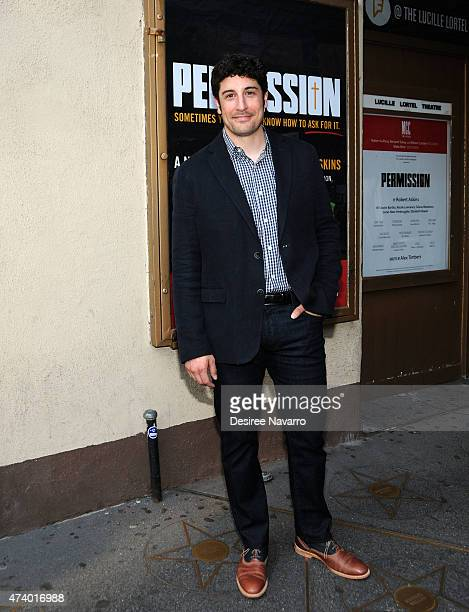 Actor Jason Biggs attends Permission opening night at Lucille Lortel Theatre on May 19 2015 in New York City