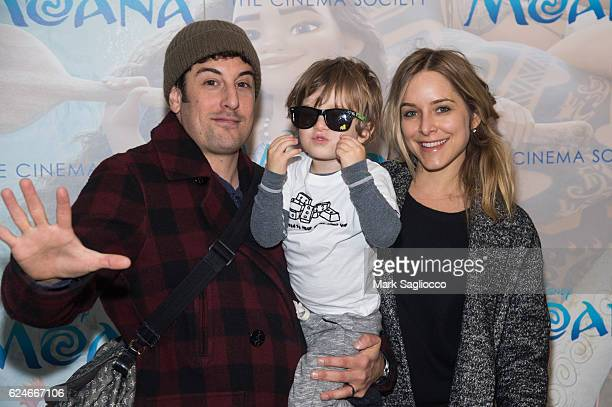 Actor Jason Biggs Sid Biggs and Jenny Mollen attend the Disney Special Screening Of Moana at Metrograph on November 20 2016 in New York City