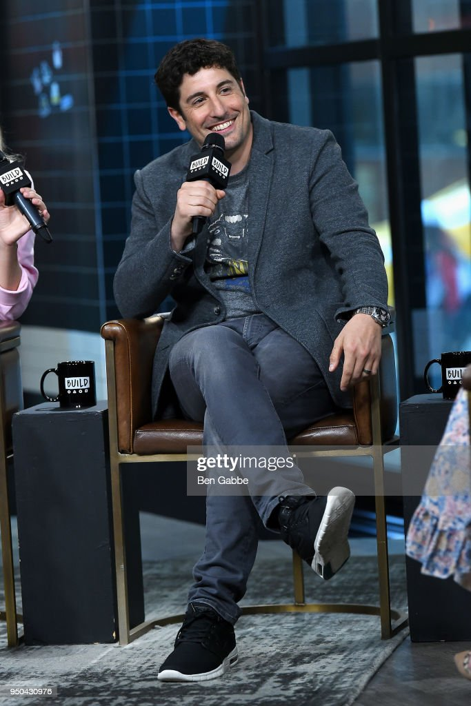 Actor Jason Biggs visits the Build Series to discuss the game show 'To Dust' at Build Studio on April 23, 2018 in New York City.