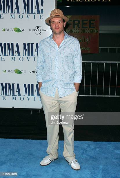 Actor Jason Butler Harner attends the premiere of Mamma Mia at the Ziegfeld Theatre on July 16 2008 in New York City
