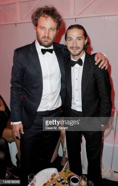 Actor Jason Clarke and actor Shia LaBeouf attend the 'Lawless' after party hosted by Manuele Malenotti Johnnie Walker Blue Label and Chopard during...