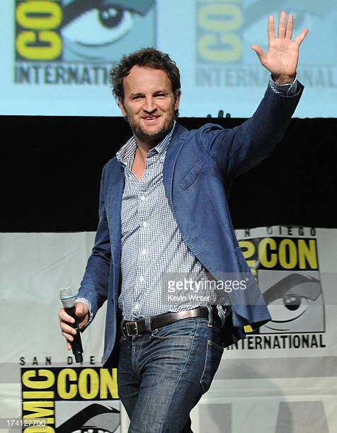Actor Jason Clarke speaks at the 20th Century Fox Dawn of the Planet of the Apes panel during ComicCon International 2013 at San Diego Convention...