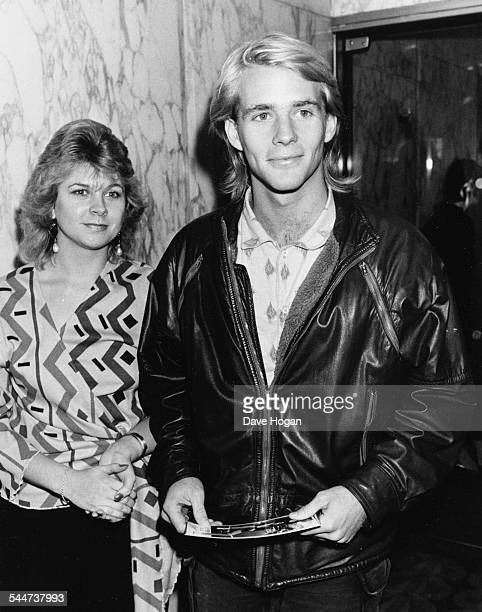 Actor Jason Connery and his date Tracy Heckter attending the premiere of the movie 'Beverly Hills Cop' in London January 25th 1985