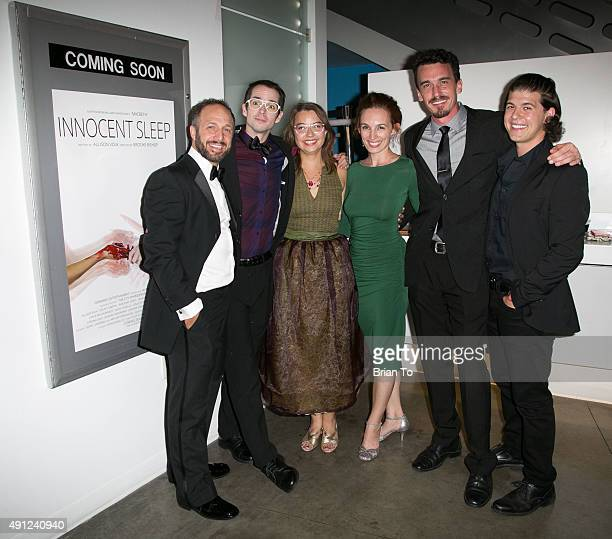 Actor Jason Coviello composer Daniel Landberg director Brooke Bishop actress Allison Volk actors Colin Martin and David Hartstone attend 'Innocent...