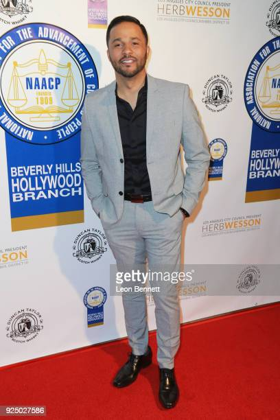 Actor Jason Dirden attends the 27th Annual NAACP Theatre Awards at Millennium Biltmore Hotel on February 26 2018 in Los Angeles California