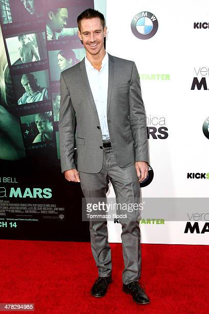 Actor Jason Dohring attends the 'Veronica Mars' Los Angeles premiere held at the TCL Chinese Theatre on March 12 2014 in Hollywood California