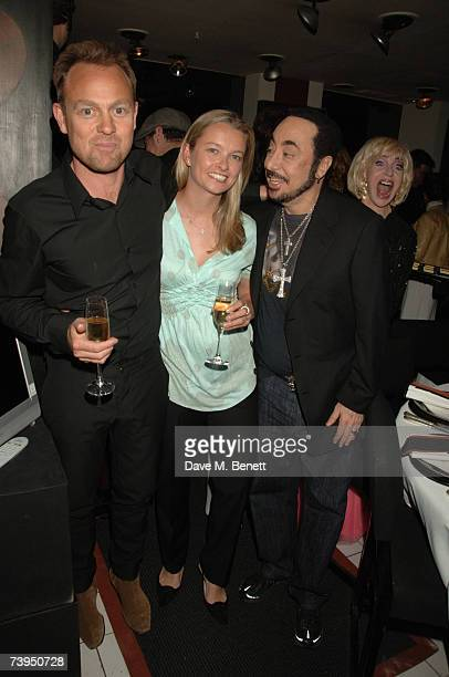 Actor Jason Donovan his partner Angela Malloch and producer David Gest attend Gest's celebration for his new ITV1 reality show This Is David Gest at...