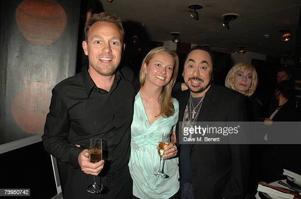 "Actor Jason Donovan, his partner Angela Malloch and producer David Gest attend Gest's celebration for his new ITV1 reality show, ""This Is David..."