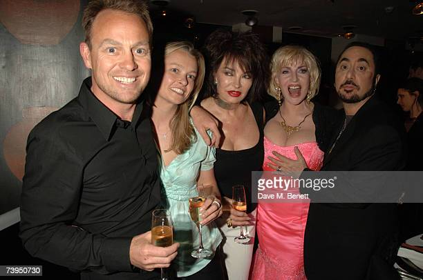 Actor Jason Donovan his partner Angela Malloch Sheryl Howard Faith Brown and producer David Gest attend Gest's celebration for his new ITV1 reality...