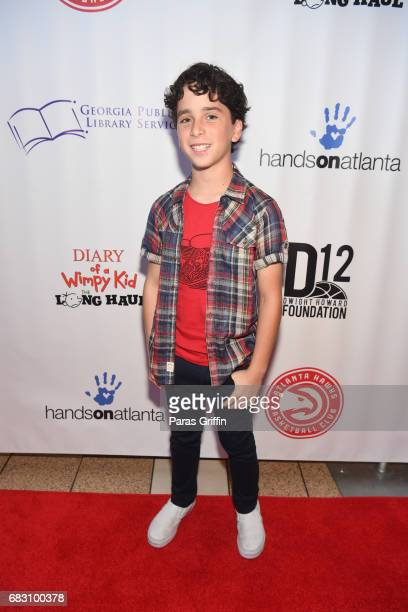 Actor Jason Drucker attends Diary Of A Wimpy Kid The Long Haul Atlanta screening hosted by Dwight Howard at Regal Atlantic Station on May 14 2017 in...