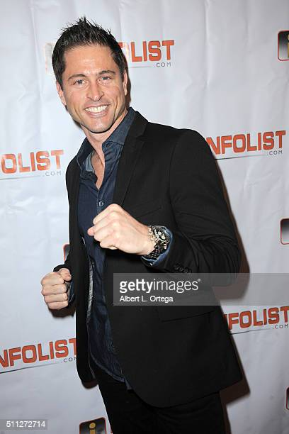 Actor Jason Faunt arrives for the InfoList PreOscar Soiree And Birthday Party for Jeff Gund held at OHM Nightclub on February 18 2016 in Hollywood...