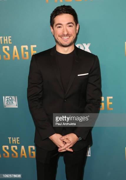 Actor Jason Fuchs attends FOX's The Passage premiere party at The Broad Stage on January 10 2019 in Santa Monica California