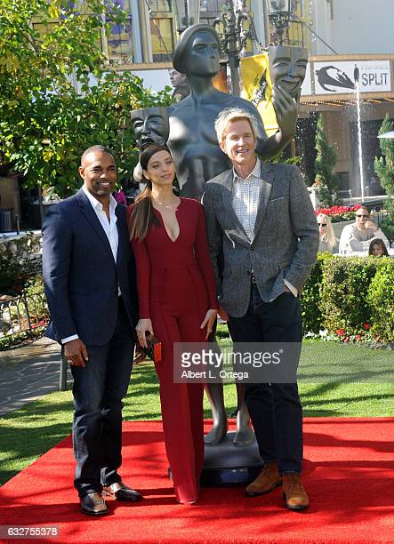 Actor Jason George actress Angela Sarafyan and actor Matthew Modine at the 23rd Annual Screen Actors Guild Awards Greet The Actor held at The Grove...