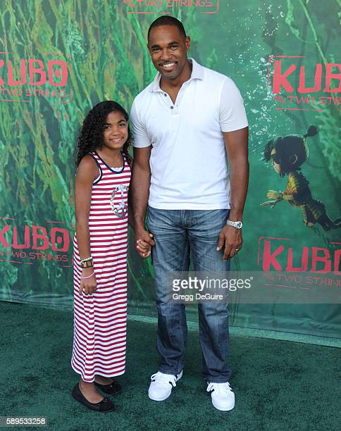 Actor Jason George arrives at the premiere of Focus Features' 'Kubo And The Two Strings' at AMC Universal City Walk on August 14 2016 in Universal...