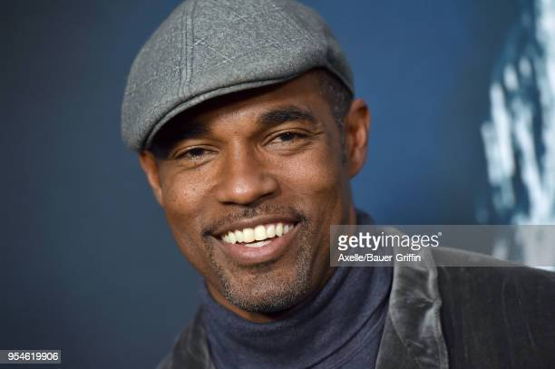 Actor Jason George arrives at Universal Pictures' special screening of 'Breaking In' at ArcLight Cinemas on May 1 2018 in Hollywood California