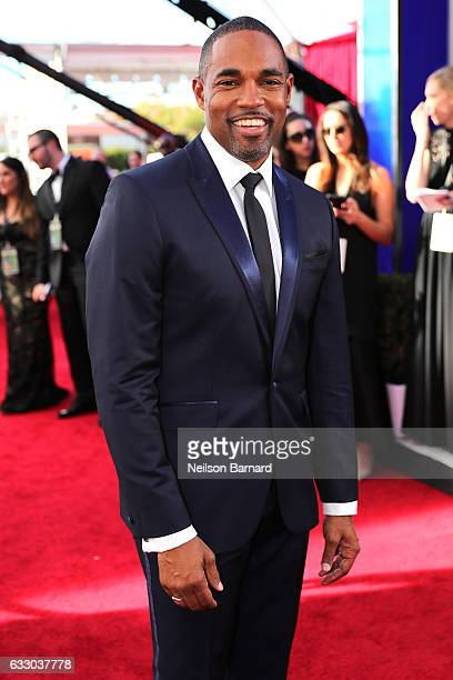 Actor Jason George attends the 23rd Annual Screen Actors Guild Awards at The Shrine Expo Hall on January 29 2017 in Los Angeles California