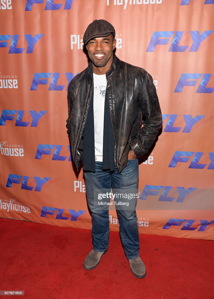 Actor Jason George attends the opening night of the play 'Fly' at Pasadena Playhouse on January 31, 2016 in Pasadena, California.