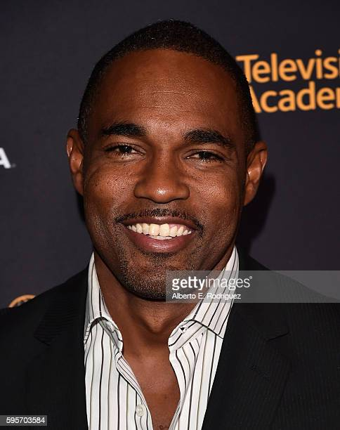 Actor Jason George attends the Television Academy And SAGAFTRA's 4th Annual Dynamic and Diverse Celebration at The Saban Media Center on August 25...