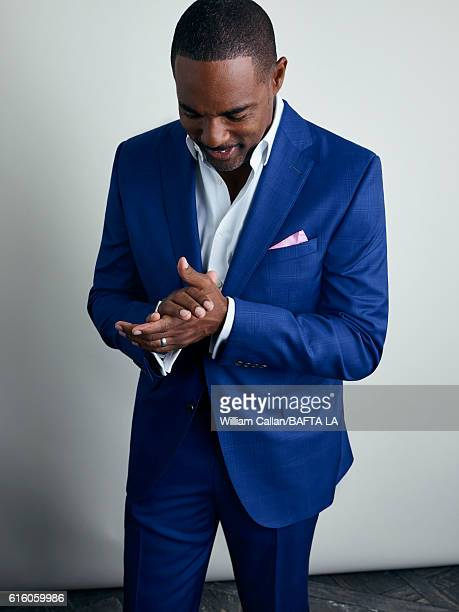 Actor Jason George poses for a portrait BBC America BAFTA Los Angeles TV Tea Party 2016 at the The London Hotel on September 17, 2016 in West...