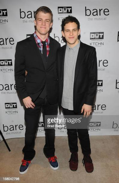 Actor Jason Hite and Taylor Trensch attend BARE The Musical Opening Night After Party at Out Hotel on December 9 2012 in New York City